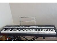 Germany Piano Keyboard Thomann DP-25 set, 88 keys comes with stand, headphone & user menu, like NEW