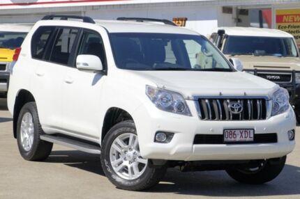 2012 Toyota Landcruiser Prado KDJ150R VX Pearl White 5 Speed Sports Automatic Wagon