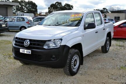 2013 Volkswagen Amarok 4MOTION TDI 400 2H White 6 Speed Manual Dual Cab Delacombe Ballarat City Preview