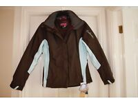 LADIES Salomon Endless Jacket in Absolute Brown / Aqua Tint colour NEW WITH TAGS UK12