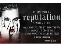 4 Taylor Swift Tckts - Fri 22nd Wembley - Gd seats Lwr 124/Row 35 - face £132/each offer £100/each