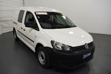 2013 Volkswagen Caddy 2K MY13 Maxi TDI250 Candy White 7 Speed Auto Direct Shift Van Moorabbin Kingston Area Preview