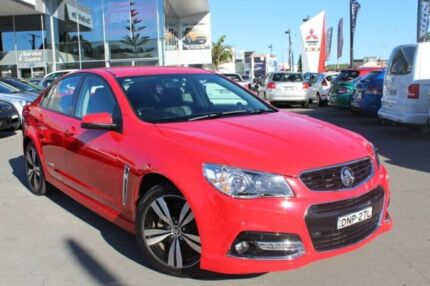 2015 Holden Commodore VF MY15 SV6 Red 6 Speed Sports Automatic Sedan