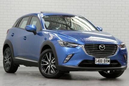2017 Mazda CX-3 DK4W7A Akari SKYACTIV-Drive AWD Dynamic Blue 6 Speed Sports Automatic Wagon