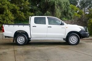 2014 Toyota Hilux KUN26R MY14 SR Double Cab White 5 Speed Manual Utility Glendalough Stirling Area Preview