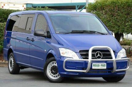 2012 Mercedes-Benz Vito 639 MY11 113CDI Crew Cab Blue 5 Speed Automatic Van