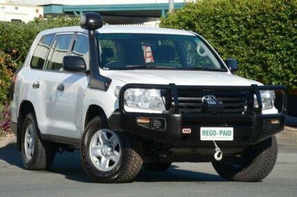 2012 Toyota Landcruiser VDJ200R MY12 GX Glacier White 6 Speed Sports Automatic Wagon