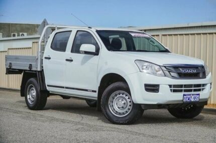 2014 Isuzu D-MAX MY14 SX Crew Cab White 5 Speed Manual Cab Chassis