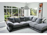BLACK GREY OR BROWN BEIGE DINO JUMBO CORD CORNER or 3 and 2 Seater SOFA SET AT VERY CHEAP PRICE
