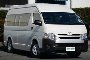 2014 Toyota Hiace KDH223R MY14 Commuter High Roof Super LWB White 4 Speed Automatic Bus Acacia Ridge Brisbane South West Preview