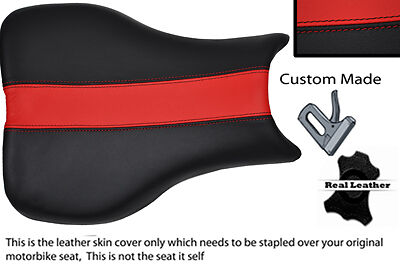 BLACK AND RED CUSTOM FITS TRIUMPH DAYTONA 675 06 12 LEATHER SEAT COVER