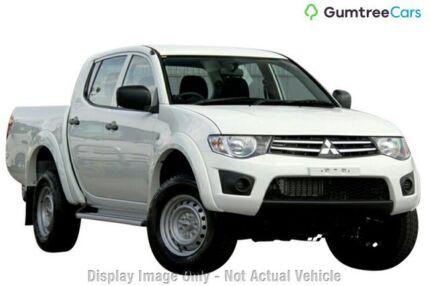 2013 Mitsubishi Triton MN MY14 GLX Double Cab White 5 Speed Manual Utility Clarkson Wanneroo Area Preview