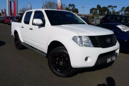 2014 Nissan Navara D40 S7 ST White 5 Speed Sports Automatic Utility