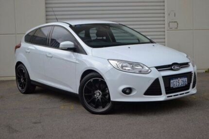 2014 Ford Focus LW MKII MY14 Trend White 5 Speed Manual Hatchback
