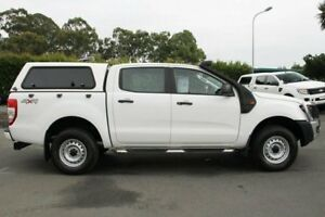 2013 Ford Ranger PX XL Double Cab White 6 Speed Manual Utility
