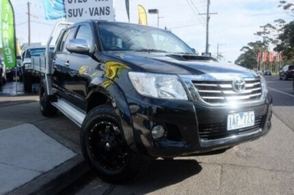 2013 Toyota Hilux KUN26R MY12 SR5 Double Cab Black 4 Speed Automatic Utility Dandenong Greater Dandenong Preview
