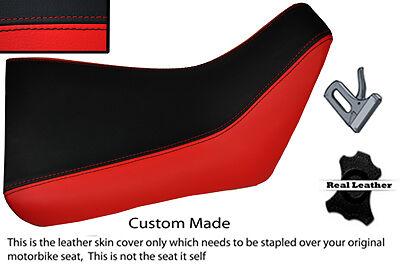 BLACK AND RED CUSTOM FITS <em>YAMAHA</em> FZR 600 89 99 FRONT LEATHER SEAT COVE