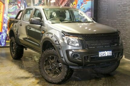 2015 Ford Ranger PX XL Double Cab Grey 6 Speed Sports Automatic Utility