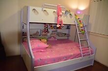 Kids double / single bunk bed with mattresses and underbed draws Parkinson Brisbane South West Preview