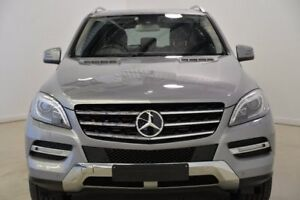 2012 Mercedes-Benz ML350 W166 BlueTEC 7G-Tronic + Silver 7 Speed Sports Automatic Wagon