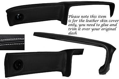 BLACK STITCH DASH DASHBOARD LEATHER SKIN COVER FITS FORD CORTINA MK2 1600E