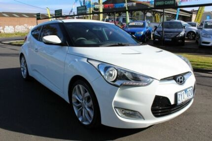 2012 Hyundai Veloster FS Coupe D-CT White 6 Speed Sports Automatic Dual Clutch Hatchback West Footscray Maribyrnong Area Preview