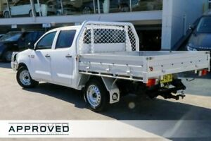 2013 Toyota Hilux KUN16R MY14 SR Double Cab Glacier White 5 Speed Manual Utility