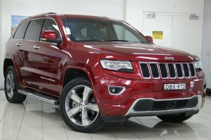 2014 Jeep Grand Cherokee WK MY14 Overland (4x4) Red 8 Speed Automatic Wagon