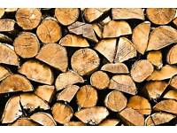 Split Logs Dry Ready To Burn Wood Burner