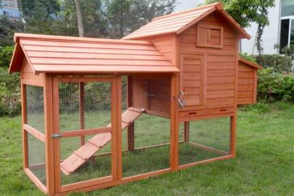 X-Large Chick Coop with Nesting box for 6 Chicken - Luke