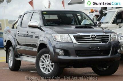 2012 Toyota Hilux KUN26R MY12 SR5 Double Cab Grey 5 Speed Manual Utility