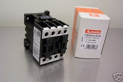 LOVATO ELECTRIC PART# 11BF20012460 24V CONTACTOR NEW IN BOX
