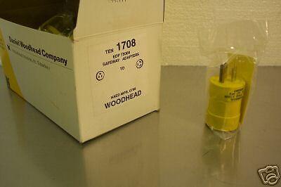 Daniel Woodhead Cat 1708 Safeway Plug 125v 10pcs New