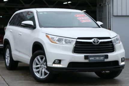 2015 Toyota Kluger GSU50R GX 2WD Crystal Pearl 6 Speed Sports Automatic Wagon