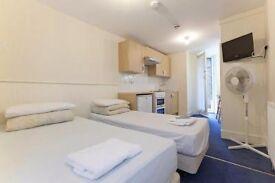 Twin Studio sleeps 2 people Belsize Park Short Lets £350 per week