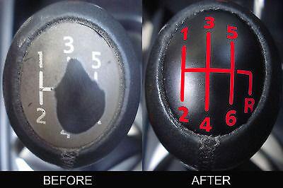 CLEAR Renault Megane II Laguna Espace trafic 6 Gear Knob Cover Sticker