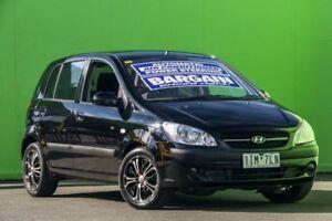 2007 Hyundai Getz TB MY07 SX Black 4 Speed Automatic Hatchback Ringwood East Maroondah Area Preview