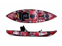 Brand new sit on fishing kayak canoe with troly peddles £350