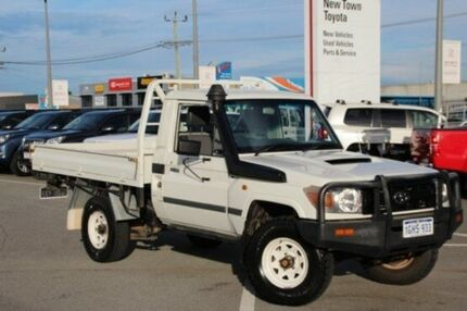 2012 Toyota Landcruiser White Manual Cab Chassis
