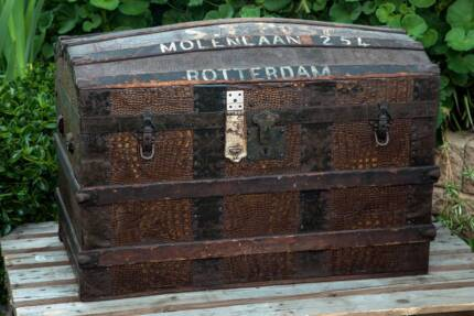 Antique 19th Century European Dome Trunk