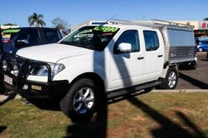 2011 Nissan Navara D40 S6 MY12 ST-X King Cab White 6 Speed Manual Utility