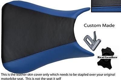 BLACK AND BLUE 03 05 CUSTOM FITS <em>YAMAHA</em> 600 YZF R6 REAL LEATHER SEAT C
