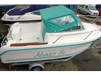 2004 OCQUETEAU ABACO 16 FISHING / PLEASURE BOAT WITH SUZUKI 50HP 4 STROKE EFI ENGINE AND TRAILER