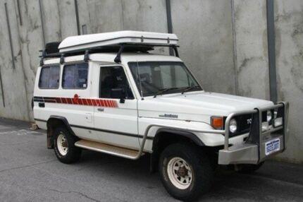 1986 Toyota Landcruiser FJ75 LWB White 5 Speed Manual Hardtop