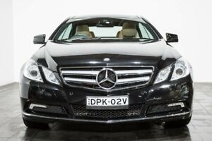 2010 Mercedes-Benz E350 C207 Avantgarde 7G-Tronic Black 7 Speed Sports Automatic Coupe