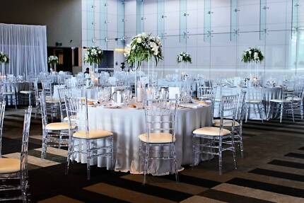 Tiffany Chair Hire Perth - Gold - White - Black - Clear