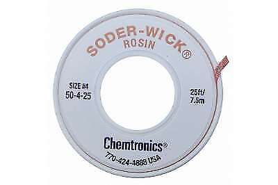 Chemtronics 50-4-25 Soder-Wick Rosin Desoldering Braid