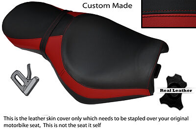 BLACK AND DARK RED CUSTOM FITS TRIUMPH ROCKET 111 3 DUAL LEATHER SEAT