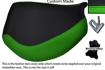 BLACK AND GREEN CUSTOM FITS TRIUMPH TIGER 955I 01 06 FRONT LEATHER SEA