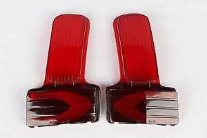 2 NOS 1941 BUICK GUIDE R-4 TAILLIGHT LENSES 5931745 46